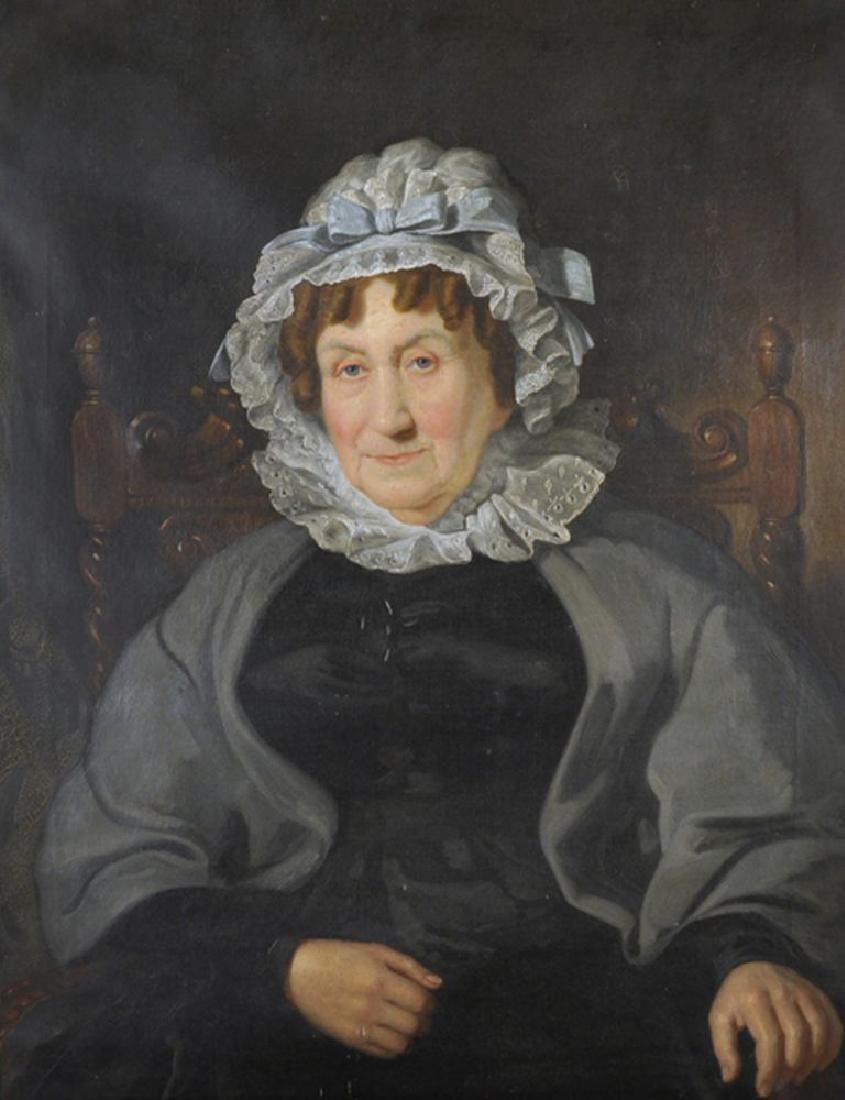 "Jacob Thompson (1806-1879) British. Portrait of ""C."