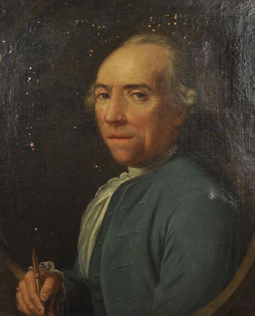 18th Century English School. Portrait of a Man with a