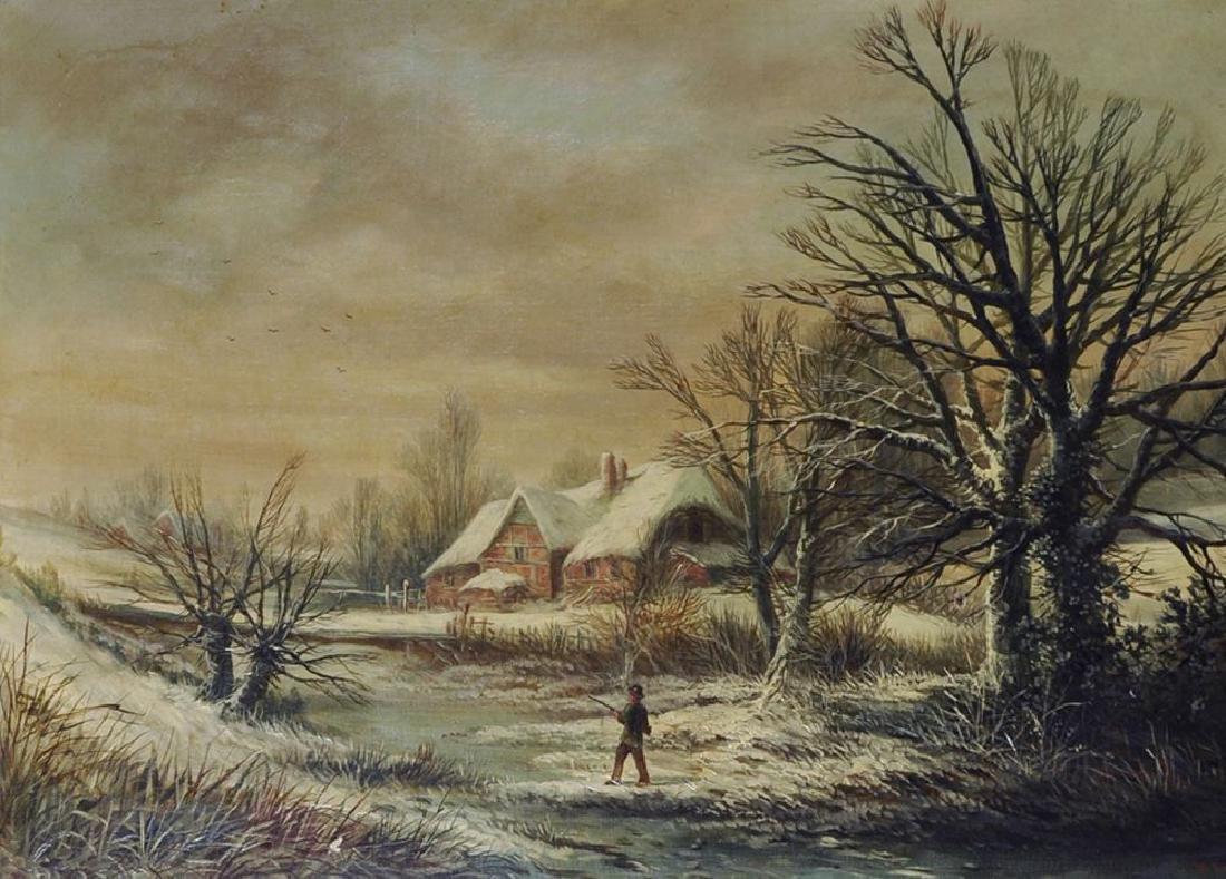 William Stone (1842-1913) British. A Snow Covered