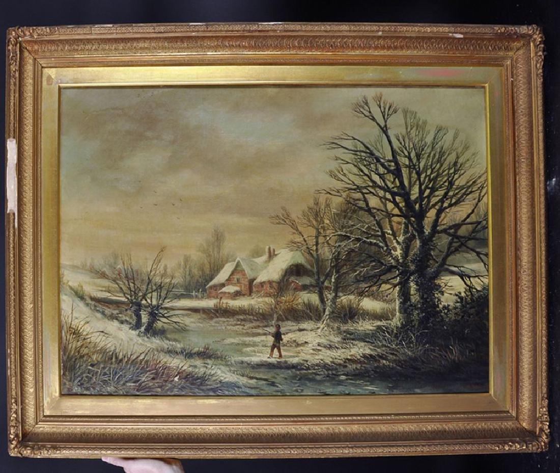 William Stone (1842-1913) British. A Snow Covered - 2