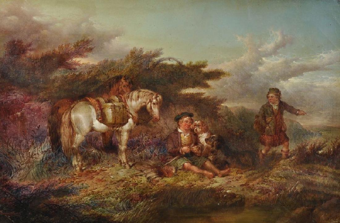 Paul Jones (act.1855-1888) British. A Boy Resting in a