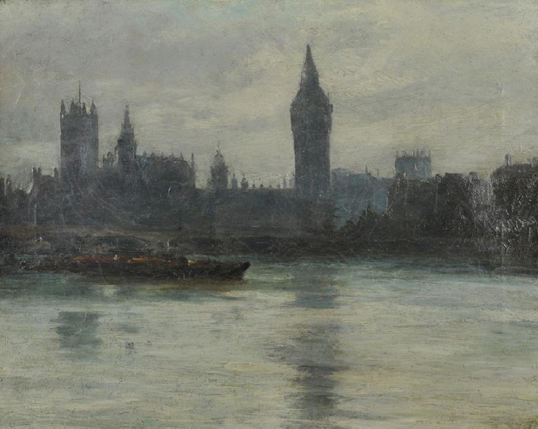 20th Century English School. The Houses of Parliament