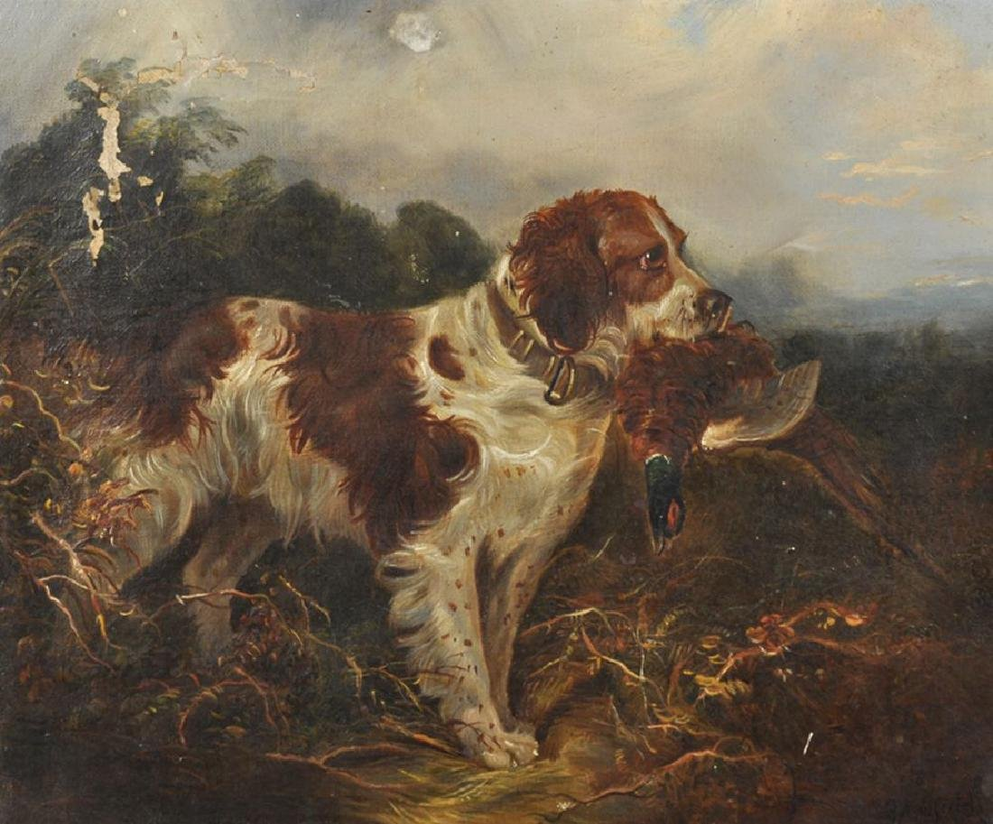 George Armfield (1808-1893) British. A Spaniel in a