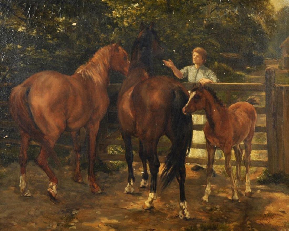 James Prinsep Barnes Beadle (1863-1947) British. Horses