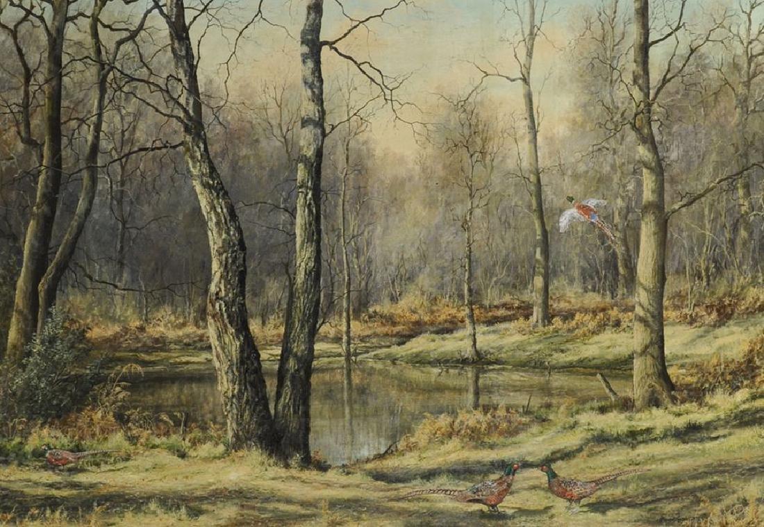 Mervyn Goode (1948    ) British. A Wooded River