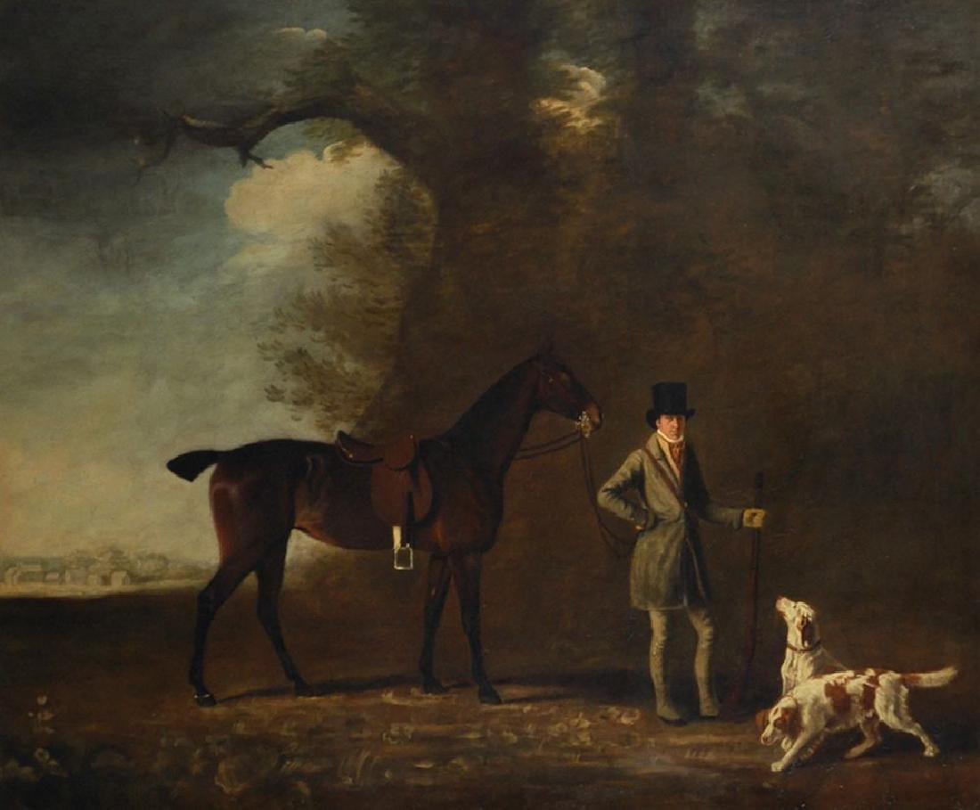 John E Ferneley (1782-1860) British. Study of a Man in