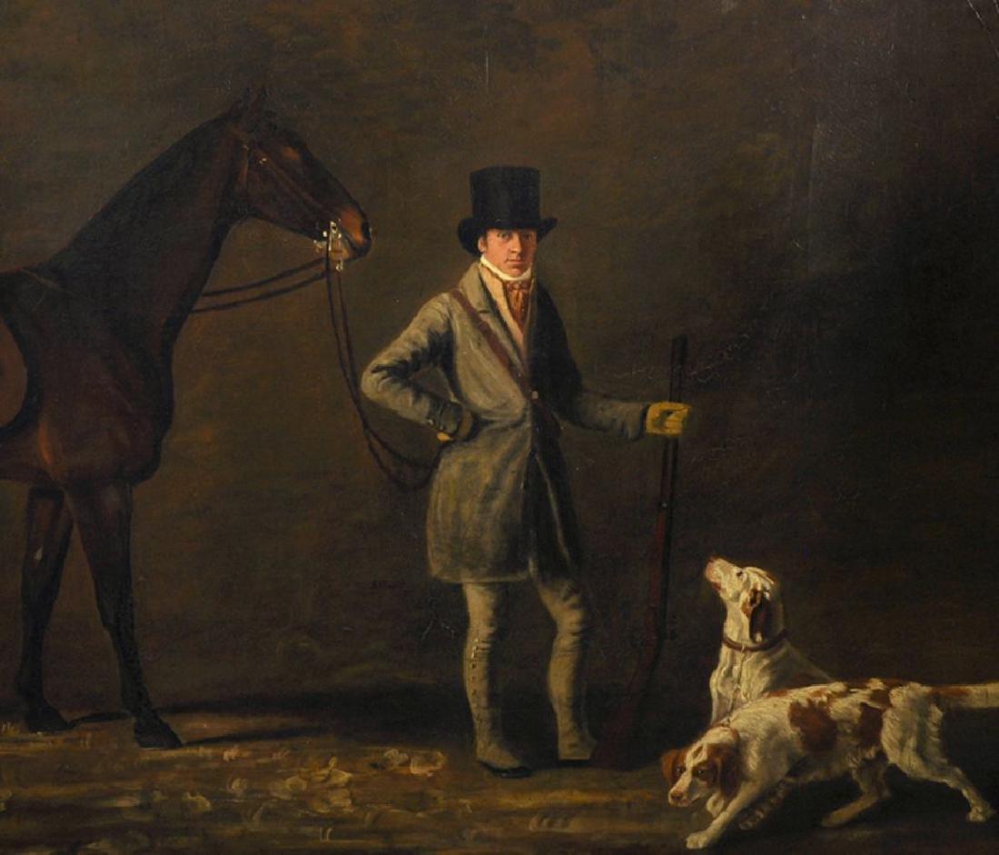 John E Ferneley (1782-1860) British. Study of a Man in - 4