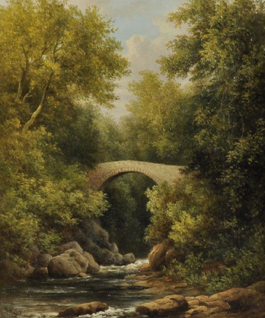 William Ward Gill (1823-1894) British. A River