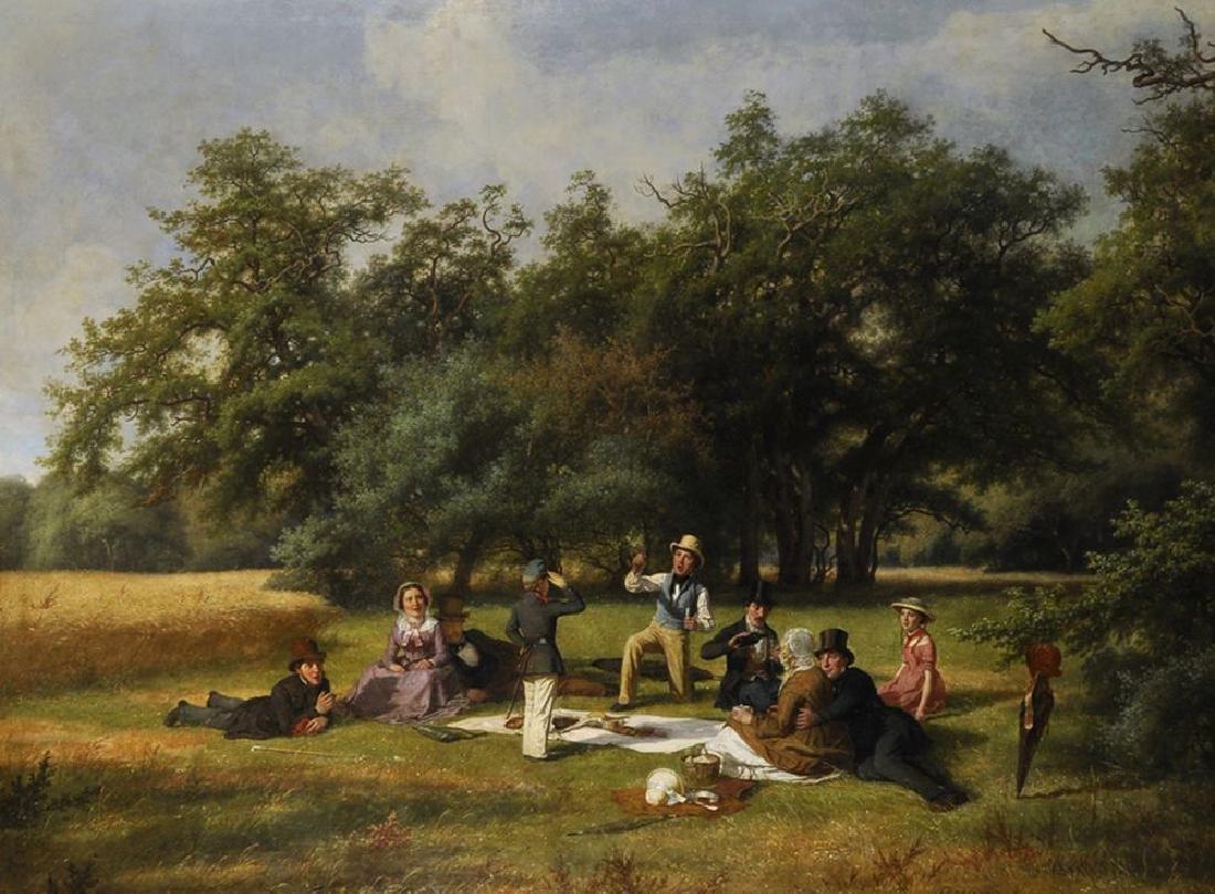 David Monies (1812-1894) Danish. 'The Picnic', A