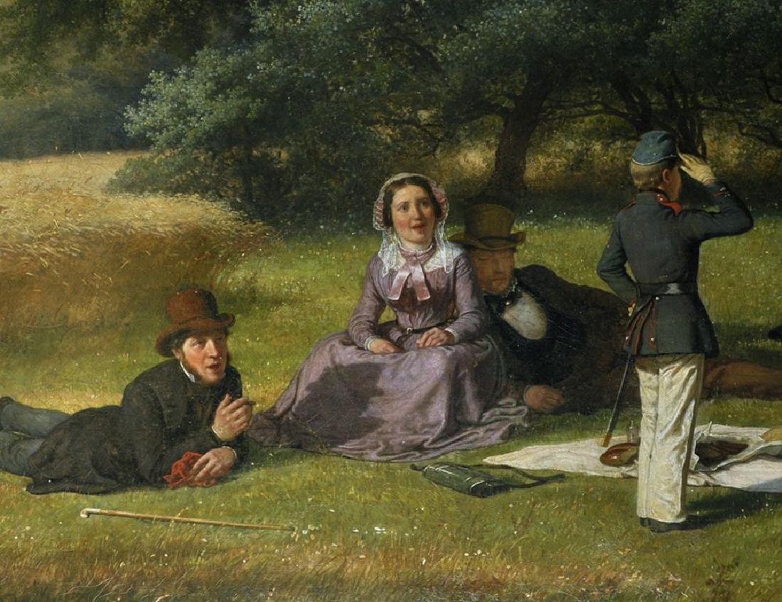 David Monies (1812-1894) Danish. 'The Picnic', A - 4