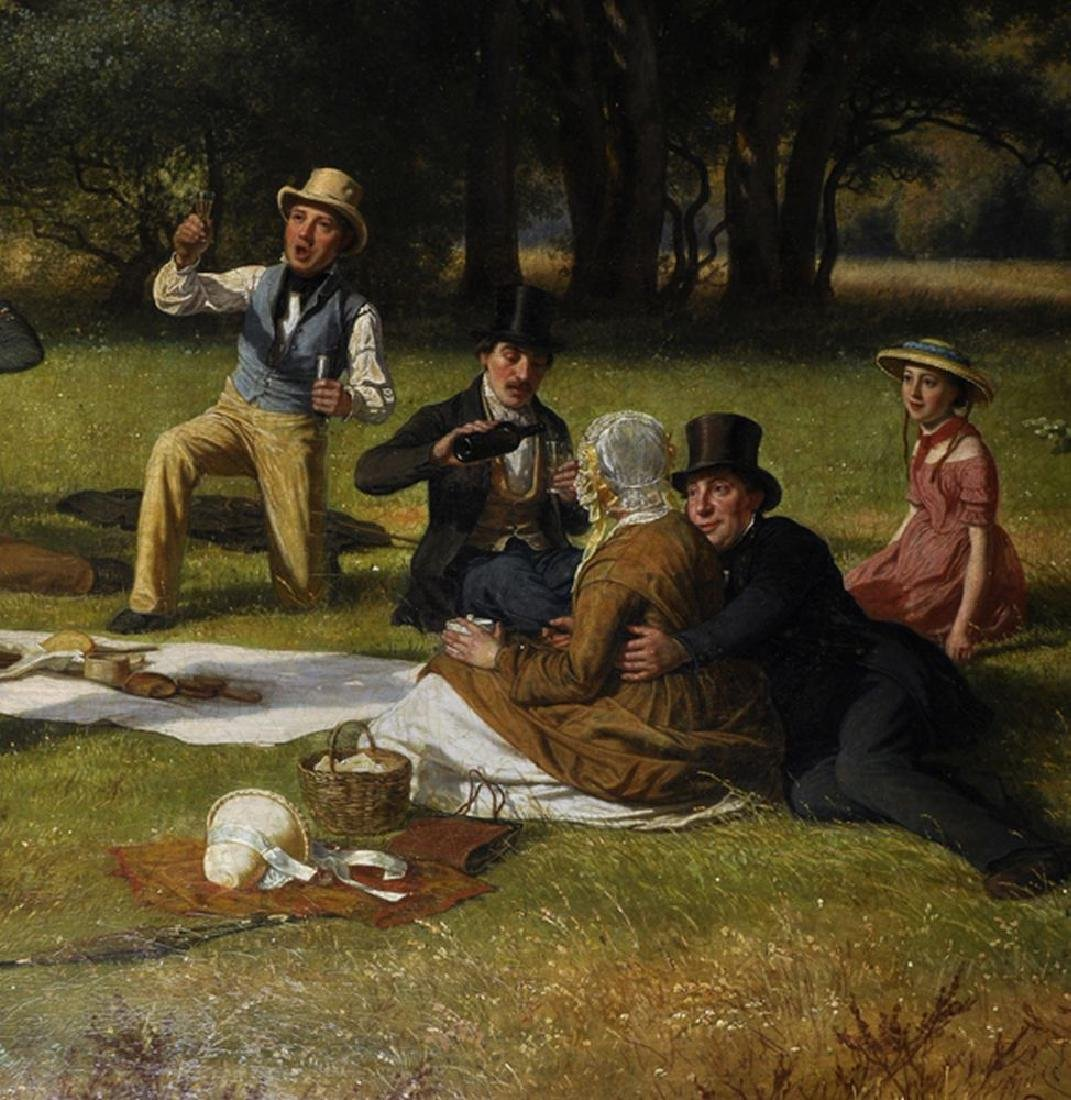 David Monies (1812-1894) Danish. 'The Picnic', A - 5