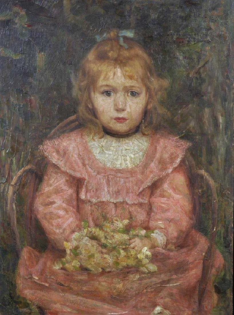 """Ernest Robert Salmon Noir (1864-1931) French. """"A"""