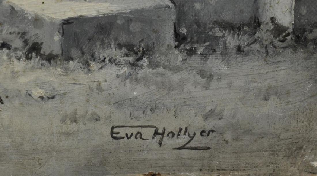Eva Hollyer (1865-1948) British. Elegant Ladies in a - 3