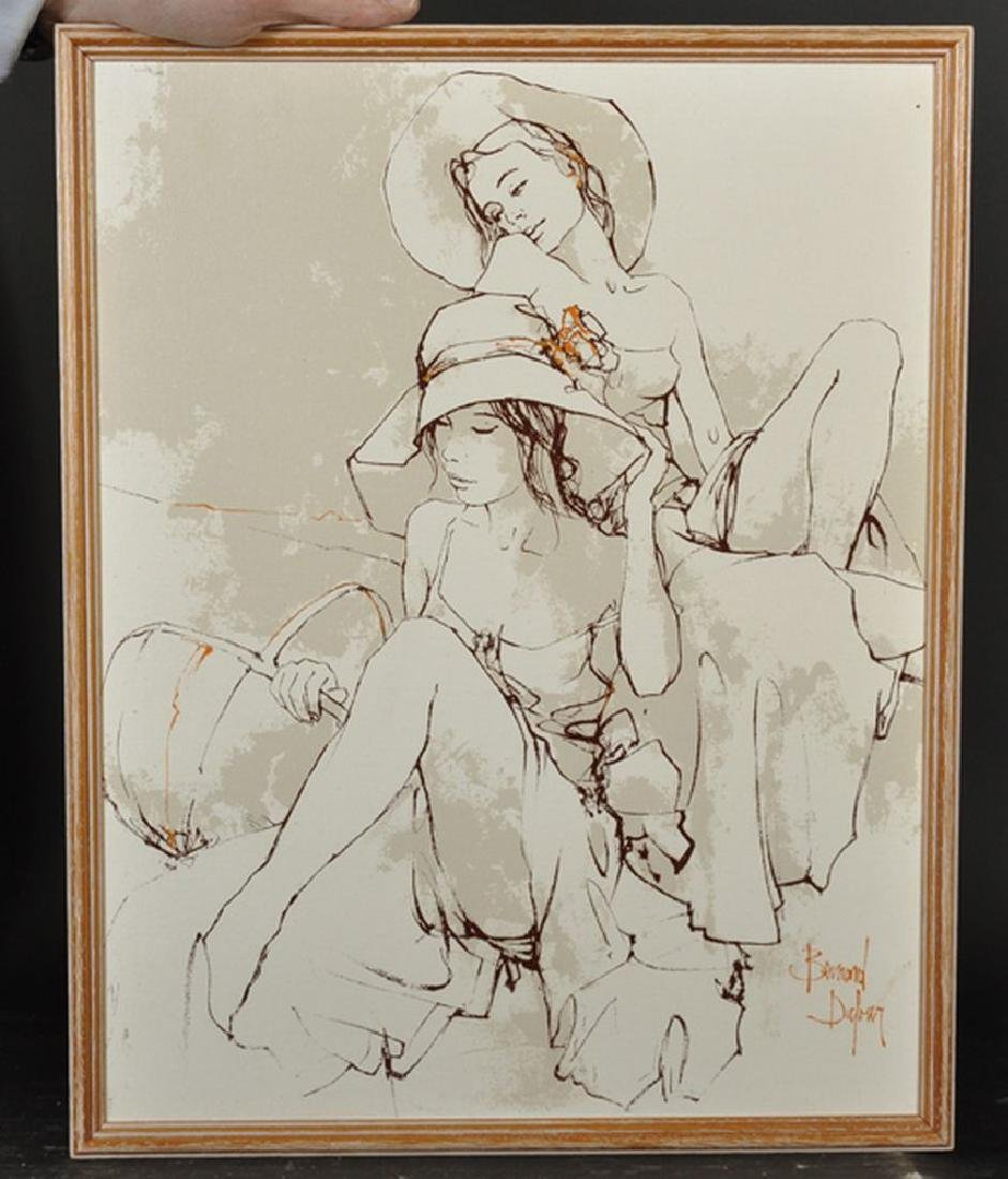 Bernard Dufour (1922-2016) French. Study of Two Girls - 2