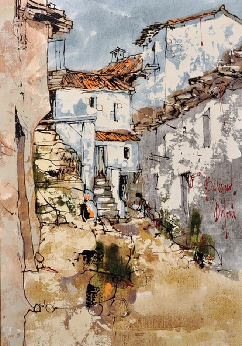 Bernard Dufour (1922-2016) French. A Majorcan Street