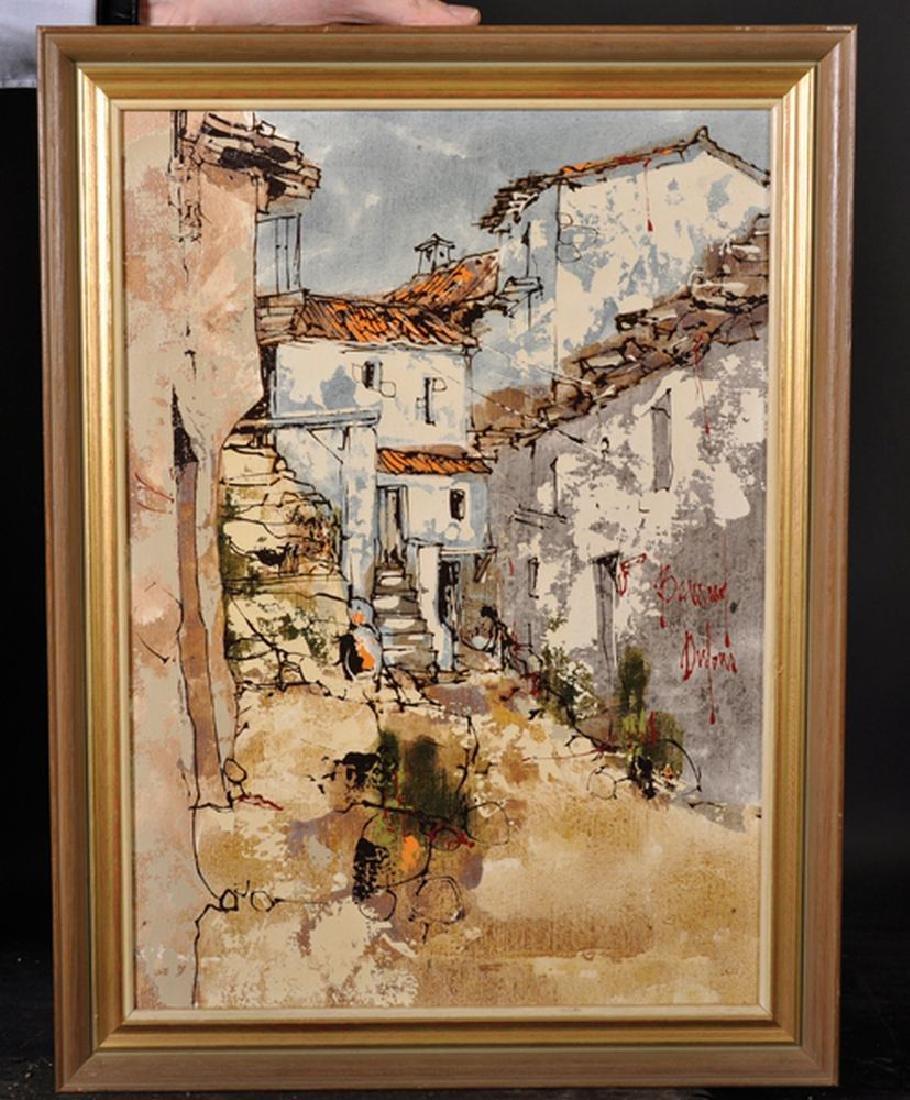 Bernard Dufour (1922-2016) French. A Majorcan Street - 2