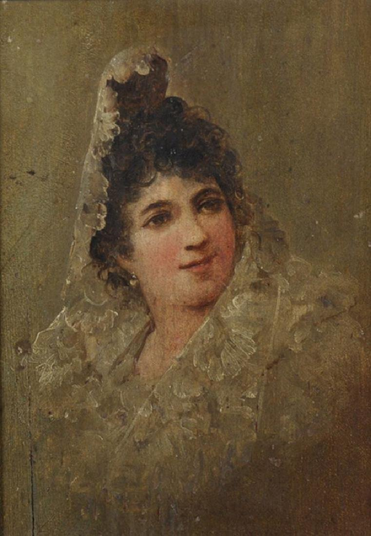19th Century Spanish School. Portrait of a Lady wearing
