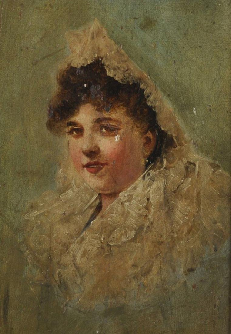 19th Century Spanish School. Portrait of a Lady wearing - 2