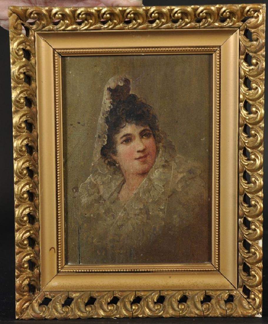 19th Century Spanish School. Portrait of a Lady wearing - 3