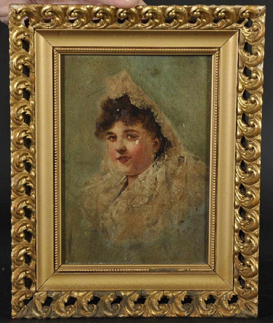 19th Century Spanish School. Portrait of a Lady wearing - 4