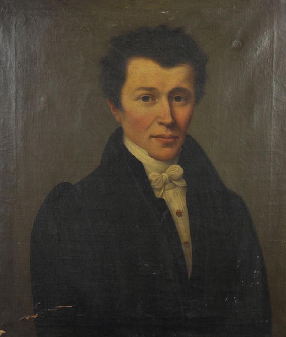 19th Century English School. Portrait of a Gentleman,