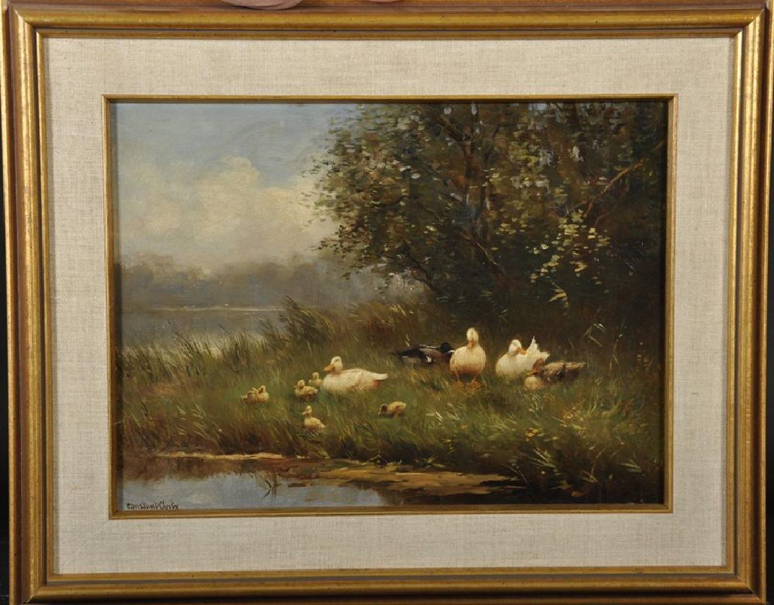 Constant David Ludovic Artz (1870-1951) British. Ducks - 2