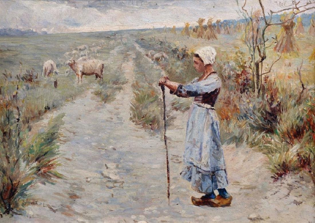 Circle of Jules Bastien-Lepage (1848-1884) French.