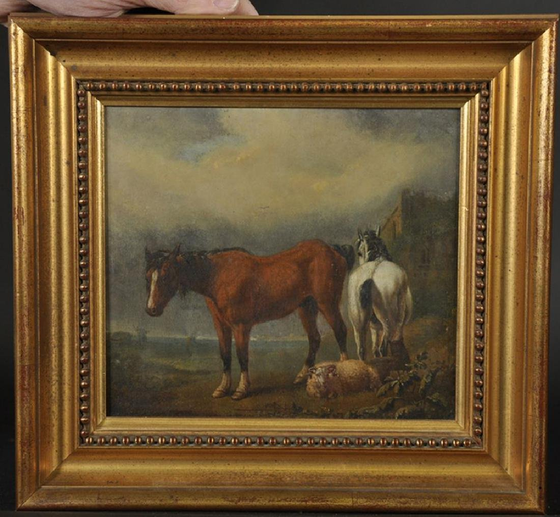 19th Century Dutch School. A Landscape with Two Horses - 2