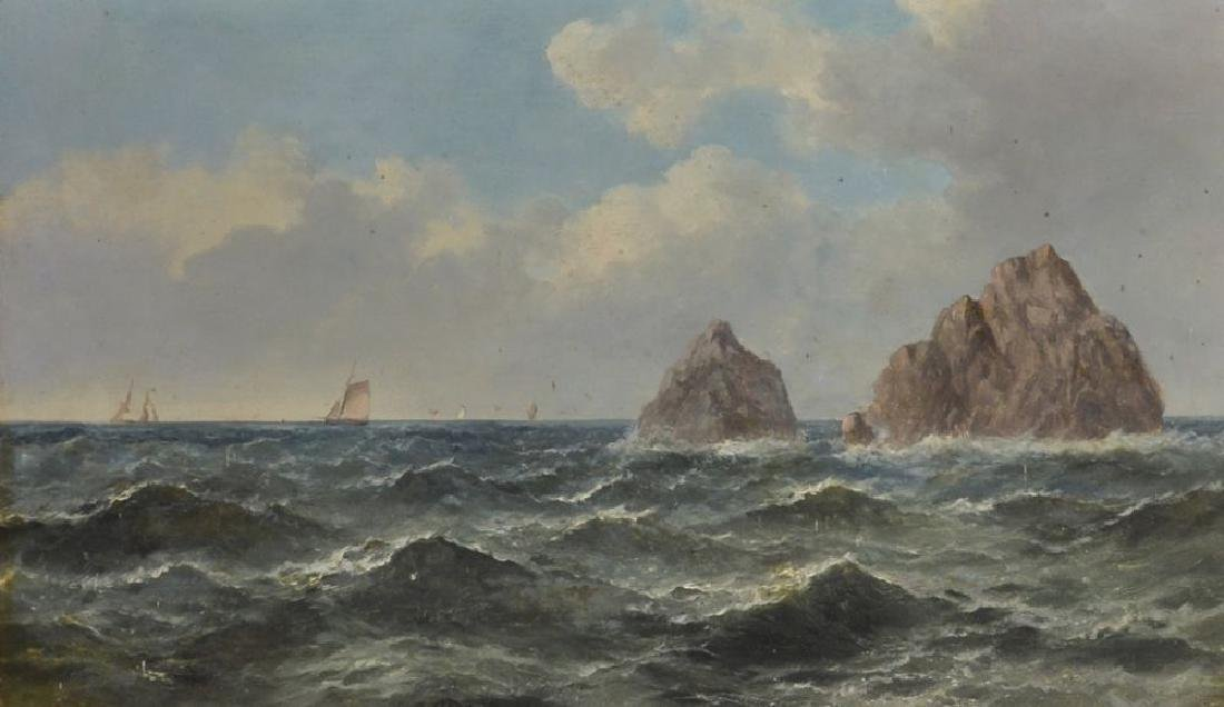 John James Wilson (1818-1875) British. A Rocky Coastal