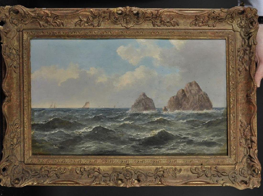 John James Wilson (1818-1875) British. A Rocky Coastal - 2