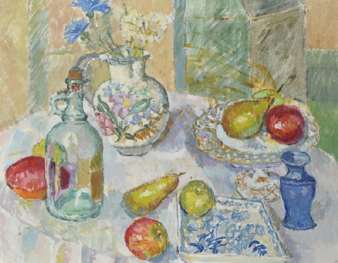 20th Century English School. Still Life of Fruit, Bowl