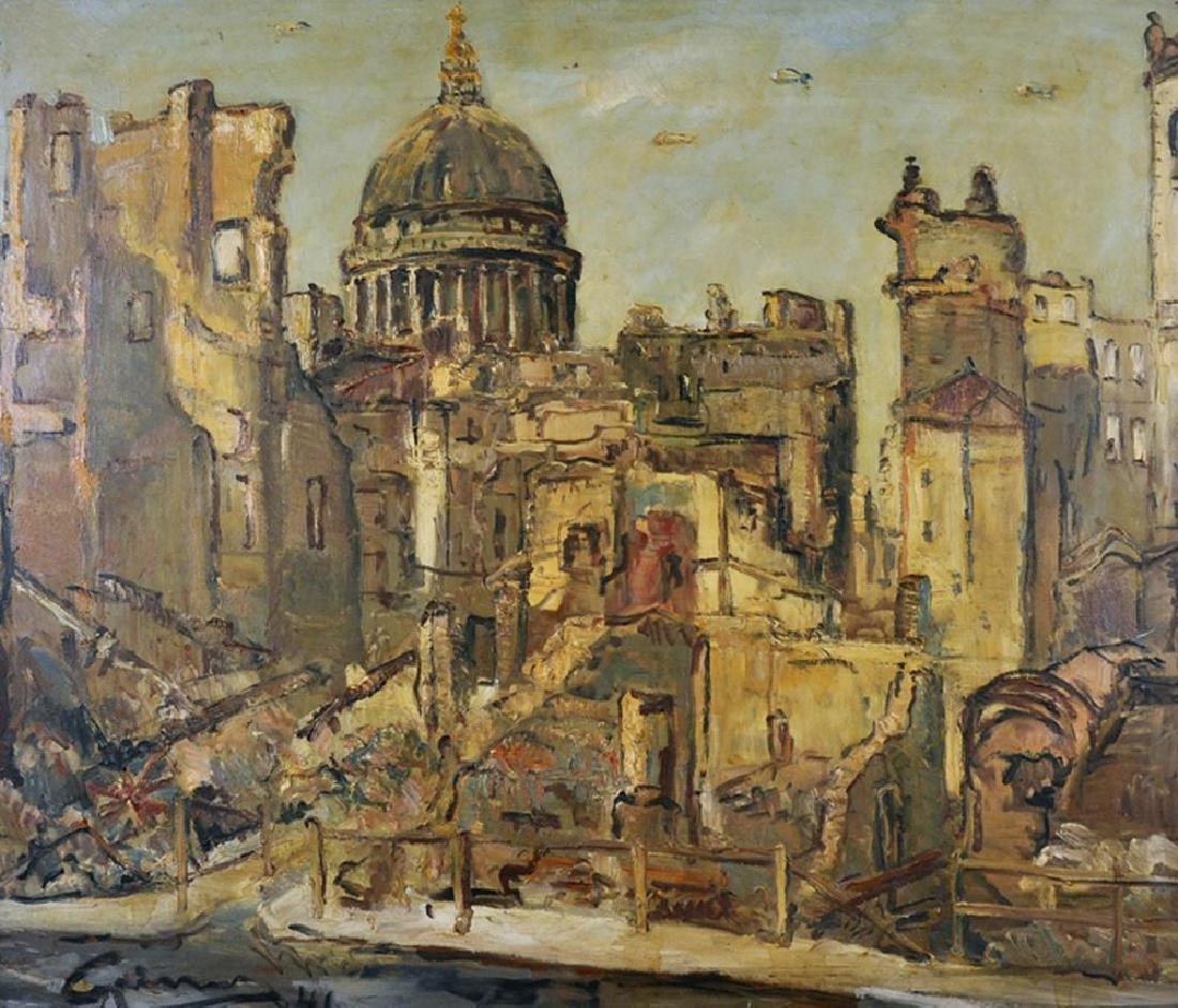 """Stanley Grimm (1891-1966) British. """"St. Pauls"""