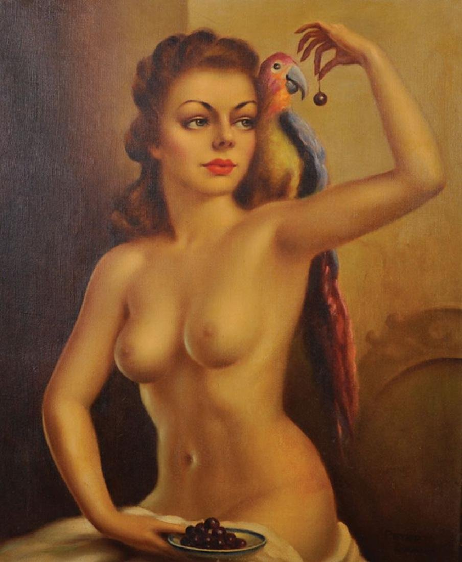 Peter Grant (20th Century) British. Portrait of a Naked