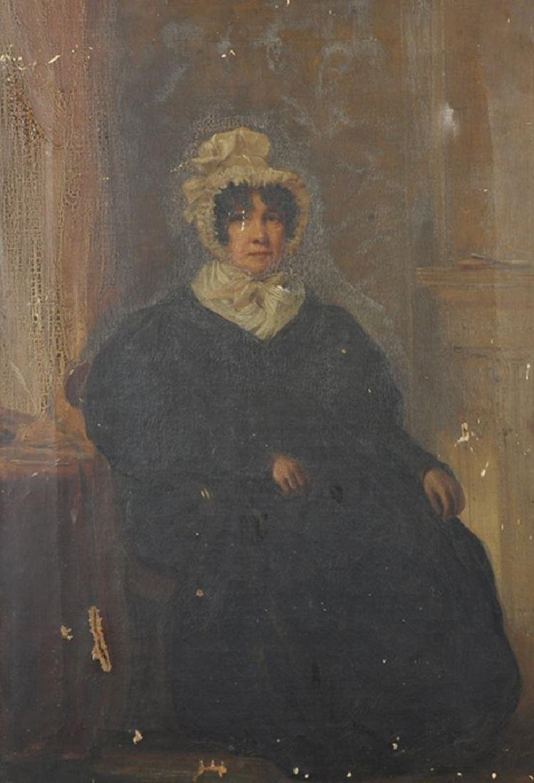 19th Century English School. A Lady Seated in an