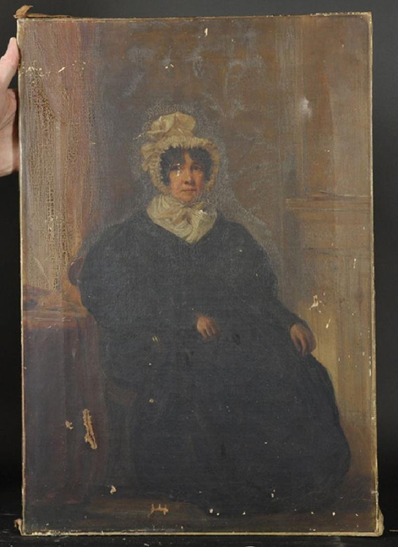 19th Century English School. A Lady Seated in an - 2