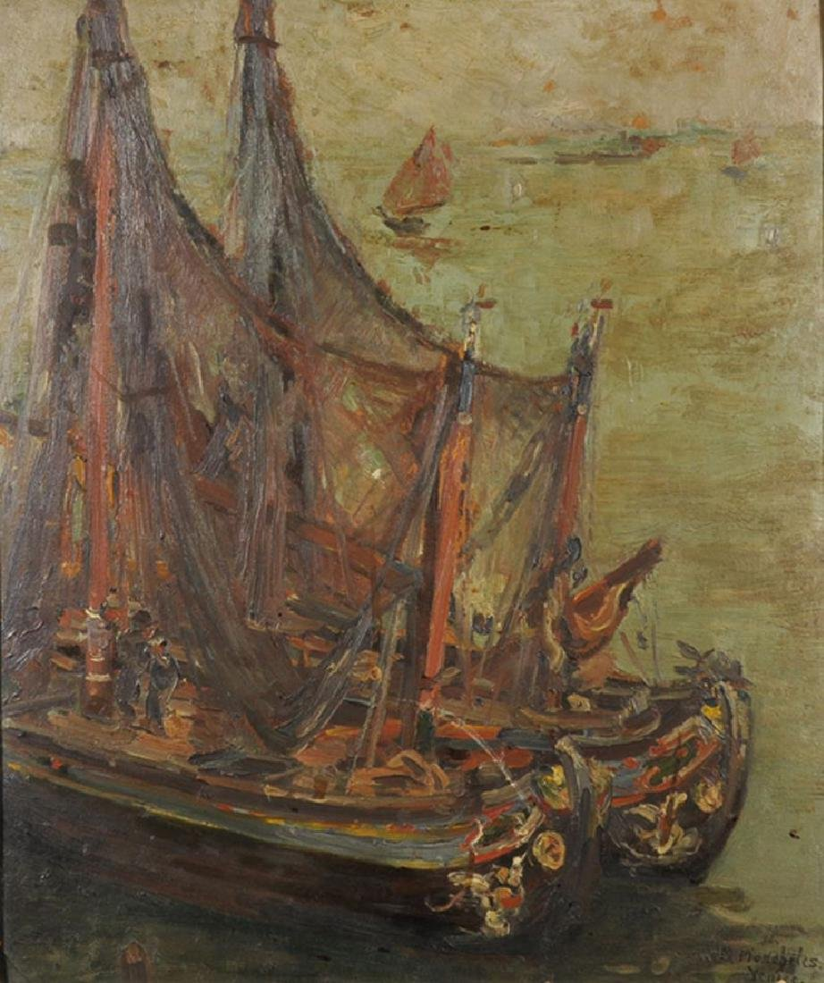 "Margaret Moscheles (1871-1924) British. ""Sunny Sails,"