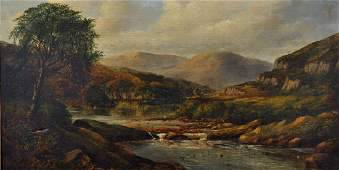 19th Century English School. A Highland River