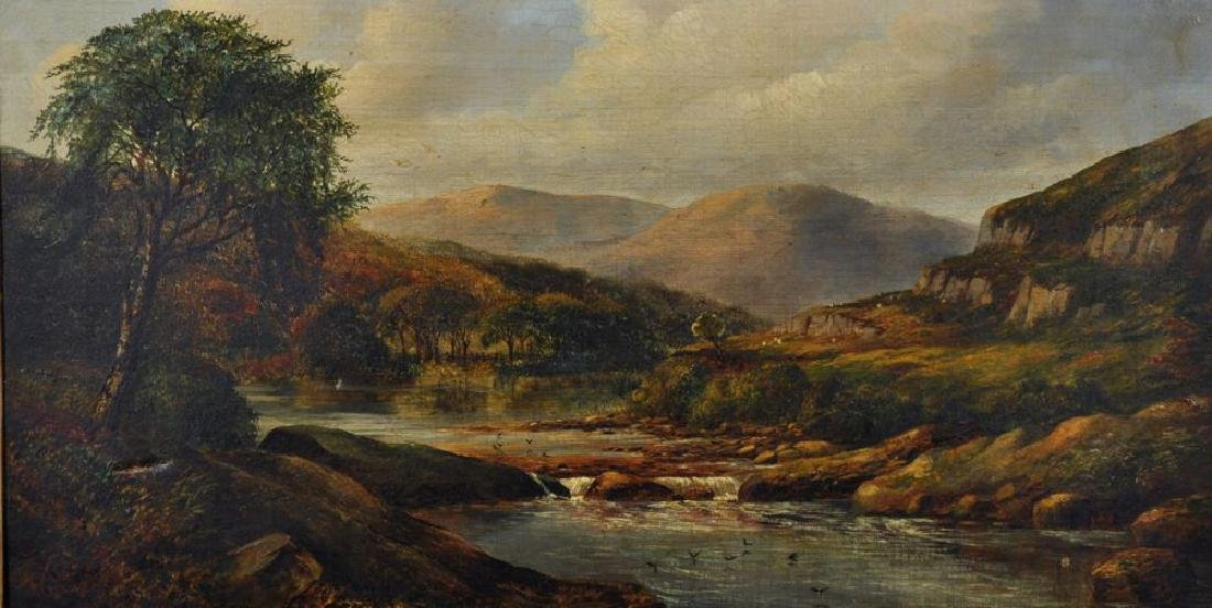 19th Century English School. A Highland River