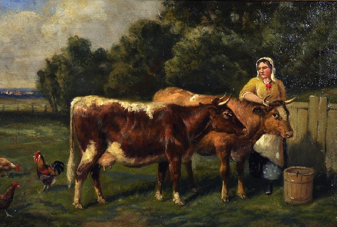 Samuel Joseph Clark (1834-c1912) British. A Milkmaid