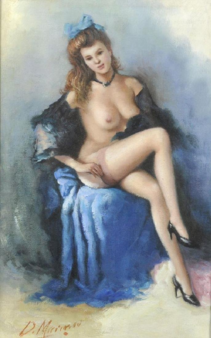 D...Markorou (20th Century) Russian. A Naked Lady