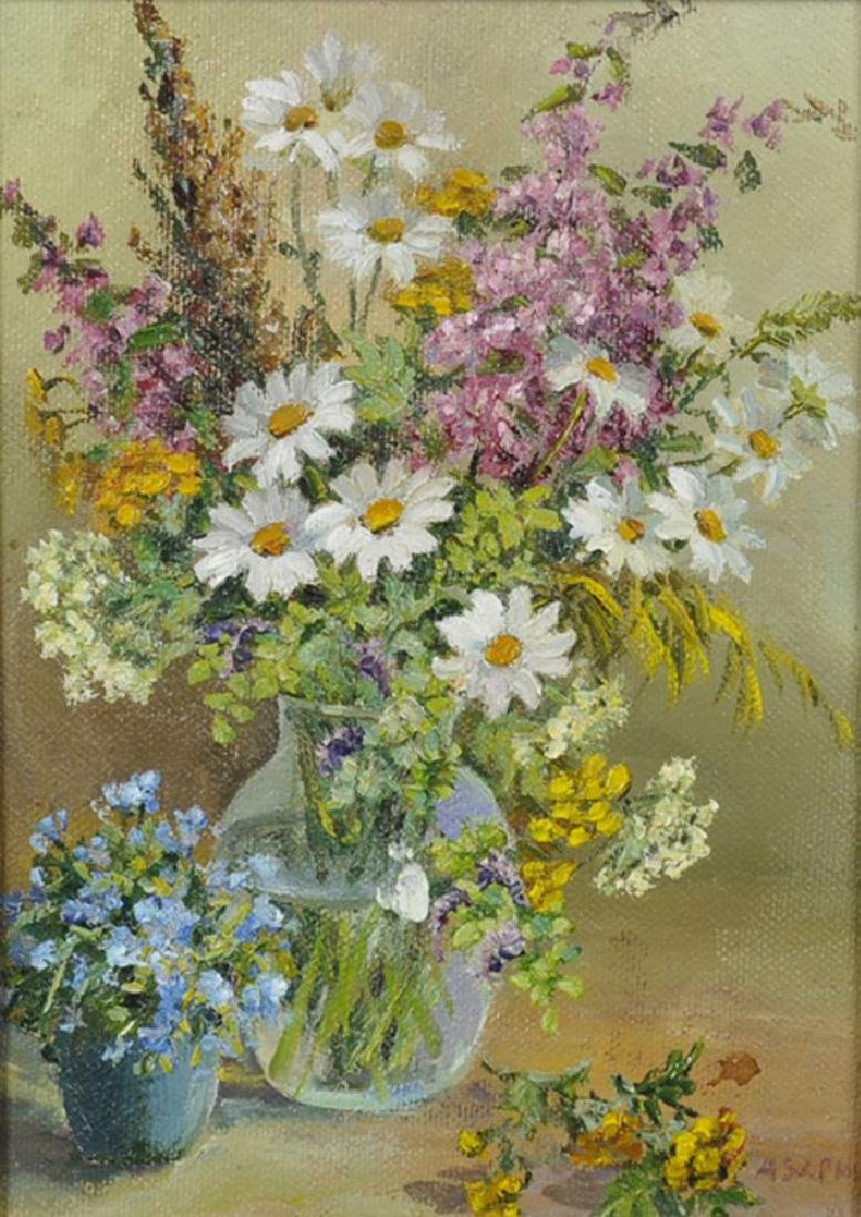 20th Century Russian School. Spring Flowers in a Glass