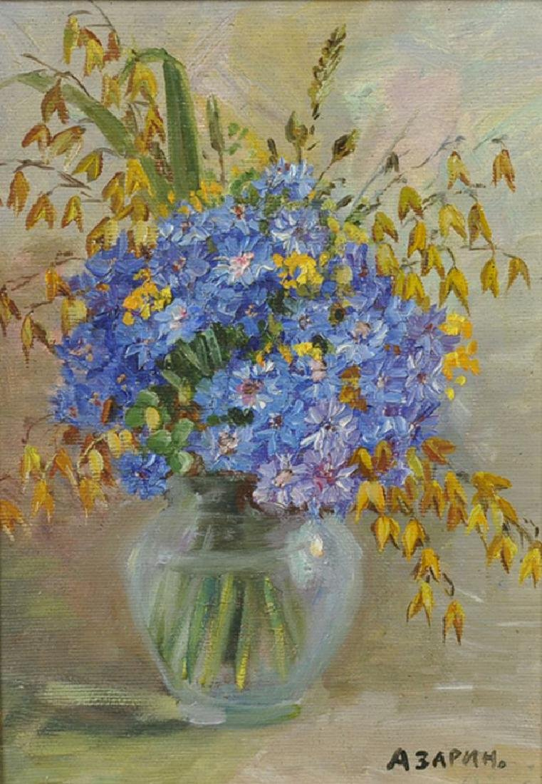 20th Century Russian School. Spring Flowers in a Glass - 2