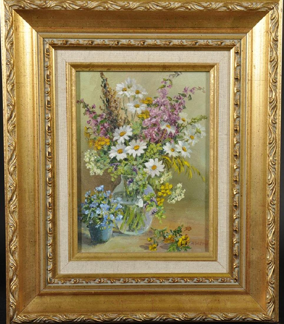 20th Century Russian School. Spring Flowers in a Glass - 3