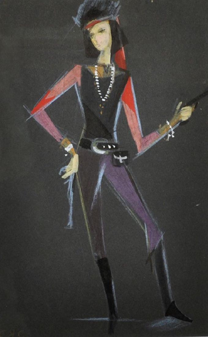 "Alik Sas (1951    ) Russian. ""Little Bandit Girl"","