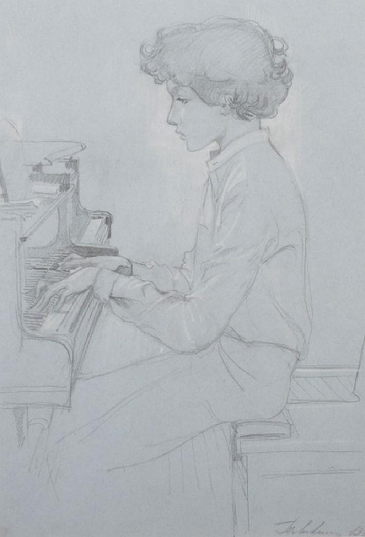 """Tatiana Isakovna Livshits (1925-2010) Russian. """"Evgeniy"""