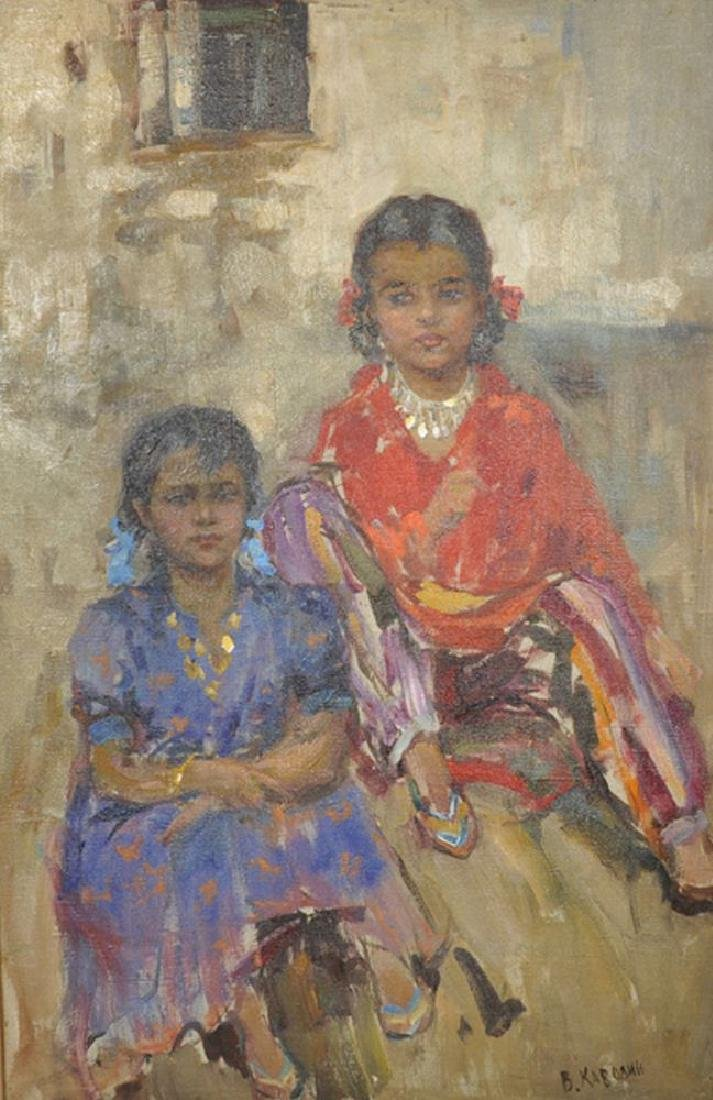 "Valentin Alievitch Kavolin (1930-1978) Russian. ""Two"