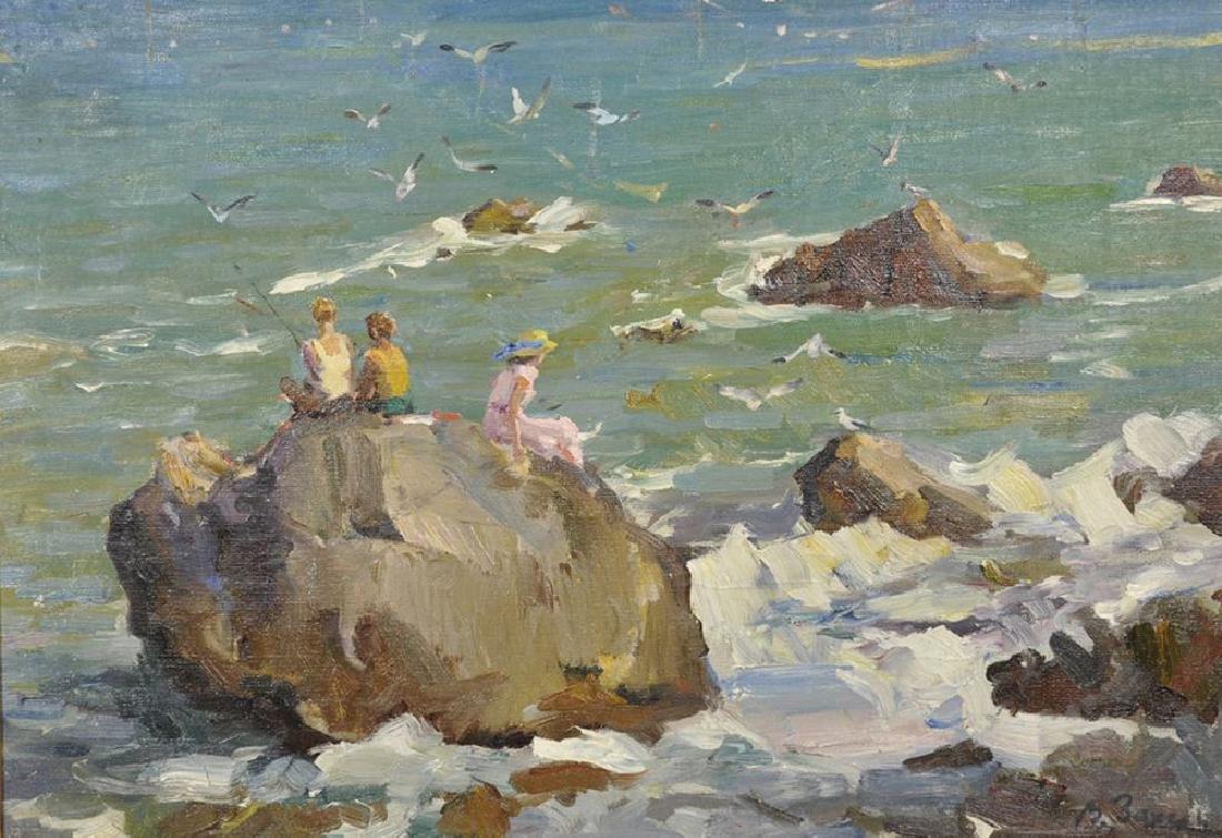 "Vladimir Zakharin (1946-    ) Russian. ""A Wild Beach,"