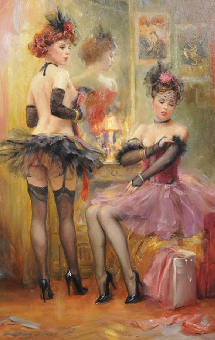 "Konstantin Razumov (1974-    ) Russian. ""Cabaret"", Oil"