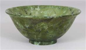A 20TH CENTURY CHINESE JADELIKE HARDSTONE BOWL the