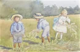20th Century English School. Children Collecting